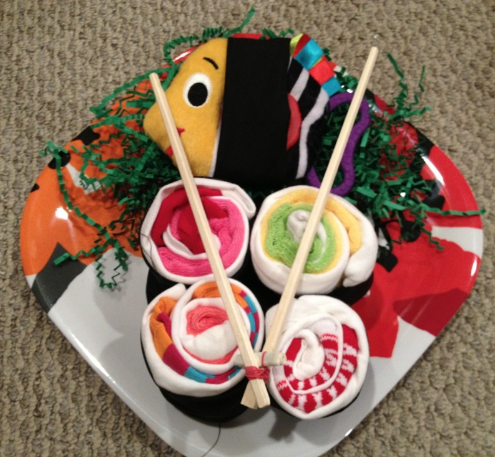 sushi baby gift archives  fiftytwothursdays, Baby shower