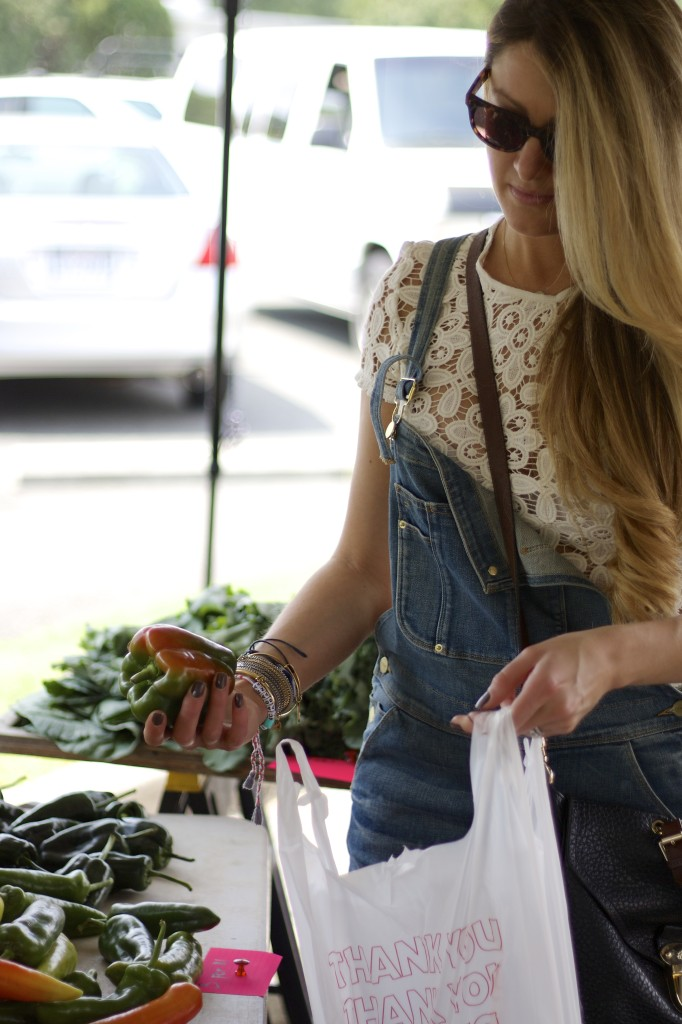 Frame Overalls at the farmers market