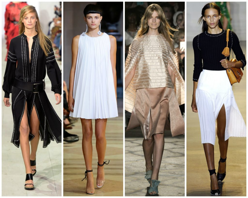 Pleats  trends at NYFW SS16