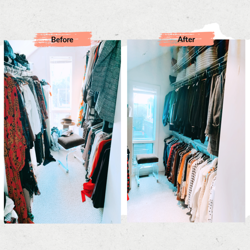 Closet Clean out before and after